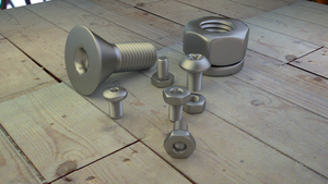 Bolts in Blender 3d Cycles by Dr-Pen