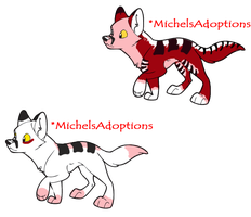 Wolf Pup Pair For MichelsAdoptions by Love-Adopts