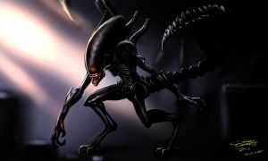 Xenomorph (Daily Sketch Challenge) by jameslink