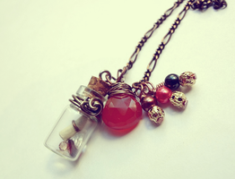 Bottle Beauty Necklace - Booty by WaterGleam