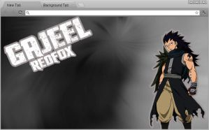 Fairy Tail Chrome Theme: Gajeel Redfox by yohohotralala