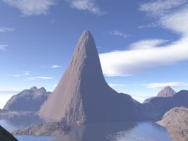 3D island spire by lord-zed