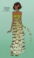 Fimbriated Moray Eel Dress by sketchtastrophe
