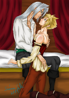 Gold and Silver 02 - Sephiroth x Cloud by SerinuCeli