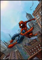 spidey in the city by logicfun