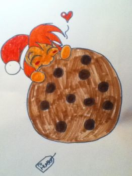 day 21 of christmas: he love chocolate chips by Fantasyofthedark94
