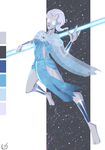 Palette challenge. Jude as Blue Lantern. Redraw by AkEshiba