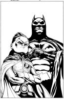 Batman And Robin 17 cvr by MarkIrwin