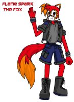 Flame Spark Fox outfit entry by YouAskMeFirst2