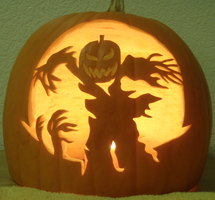 Spooky Scarecrow Light by johwee