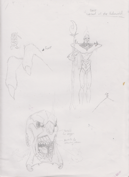 Death Colossus first sketches by Bekumboo22