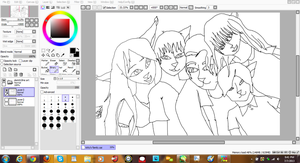 Kitty And Alex Family line art WIP by VoyagetoDiscover2013