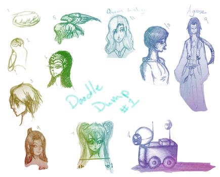 Doodle Dump #1 by Moonhitomi1
