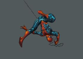 Spider-Man paint attempt by Creation-Matrix by SpiderGuile