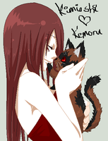 Kimioshi and kitten Kemoru by xXEmoXComicXRetardXx