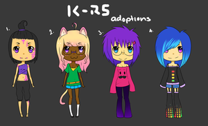 Adoptables Batch 1 -CLOSED- by rainbowstar-chan