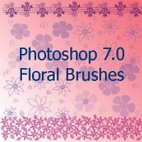 Floral brushes for PS 7.0 by spongee0990