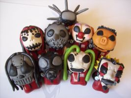 Slipknot chibi 1st disc by slipkrich