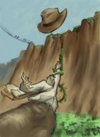indy and his hat trouble by RMalijan