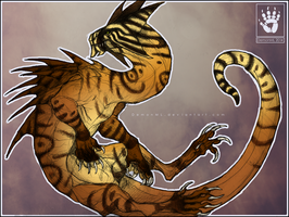 Spiny Tiger Drake by DemonML