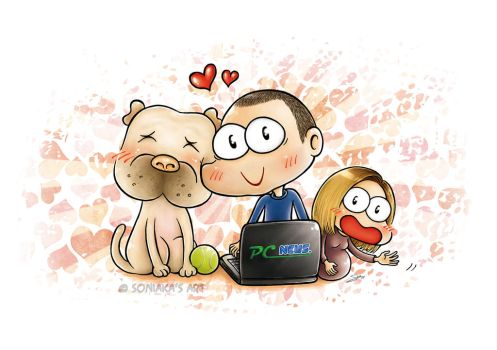Dog love by Soniaka