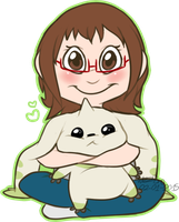 Me and Terriermon by dottypurrs