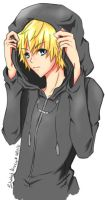 Hooded roxas by Shadedmirror