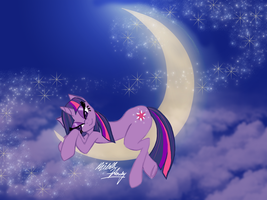 Twilight Sparkle: Twilight Moon by trinity-angel777