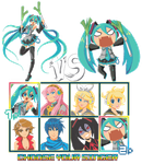 : Vocaloid Character Select! : by lollivamp