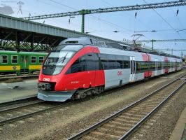 OBB 4124 'Talent' in Sopron by morpheus880223