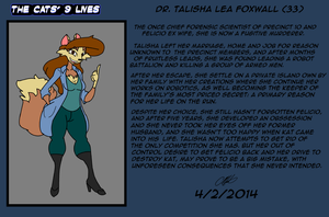 The Cat's 9 Lives! Bio Talisha Lea Foxwall by TheCiemgeCorner
