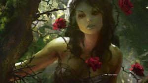 MTG - Dark Ascension - Somberwald Dryad by Darkvenger81