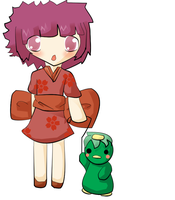 A girl and her kappa by SeppukuR