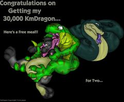 KMDragon with my 30,000 by schlechter-Drache