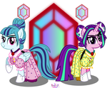 Sonastasia Dusk and Arizella Blaze by MeganLovesAngryBirds