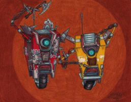 Draw A Claptrap (Or Two) by BleachedShark