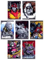 last batch of transformers sketch cards by Kapow2003
