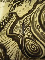 April Showers - Black Magic Ink - detail 1 by HappyHollowGlass