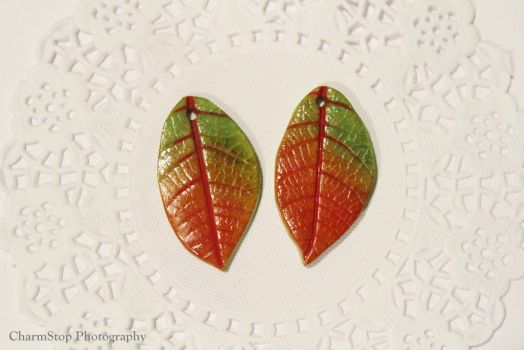Autumn Leaf Pendants by CharmStop