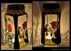 Beauty and the Beast Candle Holder by Bonniemarie