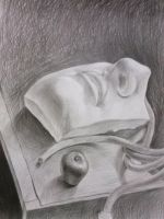 Still life-NEW 5- David's face(part of it) by UsayFudo