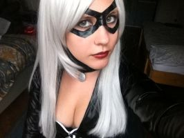 Make up, mask and wig cut for Black Cat! by SajikaCosplay