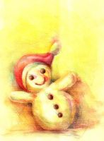 yellow snowman by ANIMAfelis
