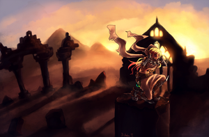 -CM- Desert Ruins by fishy-blue
