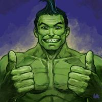 Daily Sketches Totally Awesome Hulk by fedde
