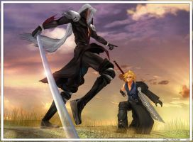 CloudVsSephiroth by ubald007