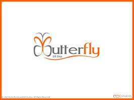 Butterfly Gift Shop Logotype by qdstudios