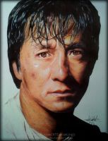 Jackie Chan Ballpoint Pen Drawing (by Atcdrawings) by ATCdrawings