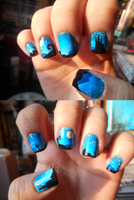 Starry Night Nails by Ebony-Rose13