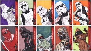 Star Wars Celebration VI 501st sketch cards by tdastick